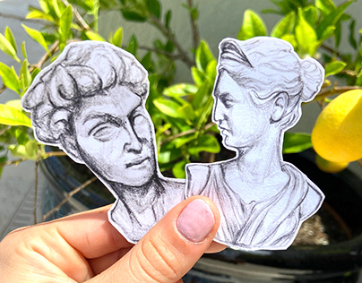 Greek Bust Stickers!