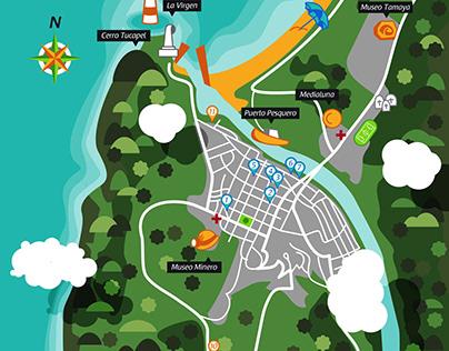 Mapa turístico de Lebu