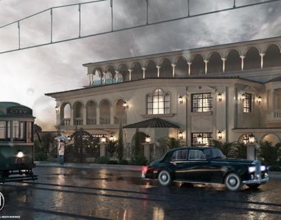 old classic villa