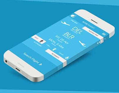 Air ticket booking App UX/UI Concept