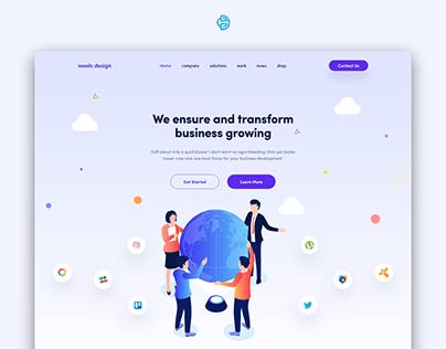 UI UX Landing Page Design For Weels Design