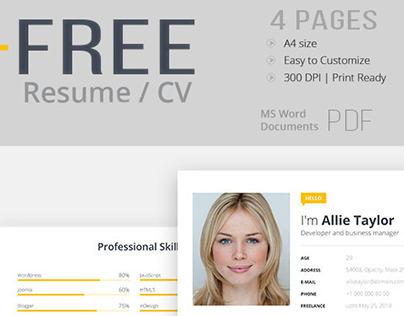 Free Resume Template | Word, PDF