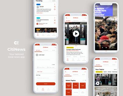 UX/UI - CitiNews App - Work In Progress