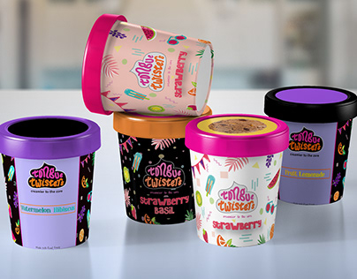 Packaging | Branding | Ice Cream | Tongue Twisters 2