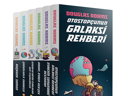 The Hitchhiker's Guide to the Galaxy Book Covers