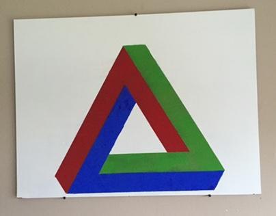 wand decoratie onmogelijke driehoek