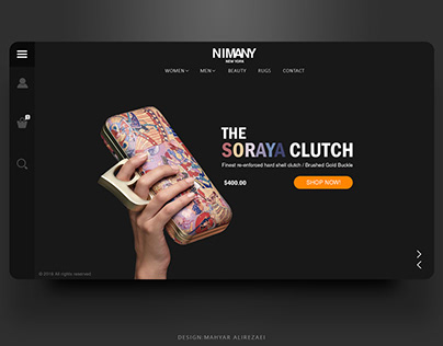 NIMANY web deisgn mock-up