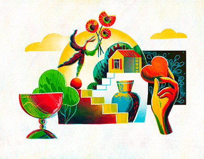 Sweet Home: Warm Digital Illustration Set