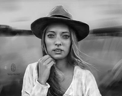 Female portrait – digital painting
