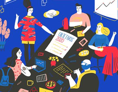 OHlala! Magazine Editorial Illustrations 2016