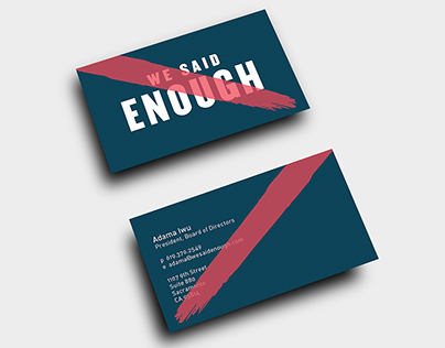 We Said Enough: Brand Identity