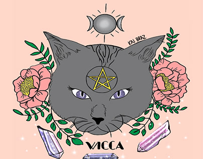 Ilustração Wicca.