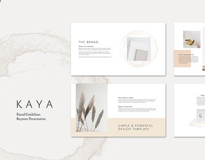 KAYA Keynote Brand Guidelines