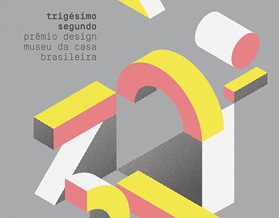 Cartaz 32º Prêmio Design Museu da Casa Brasileira