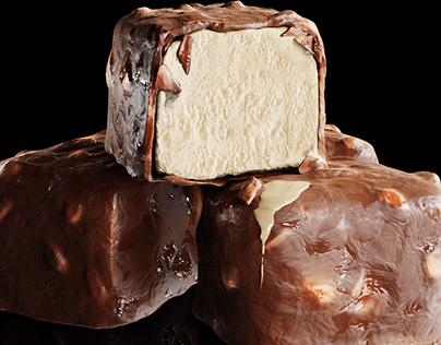 Ice cream Chocolate - CGI