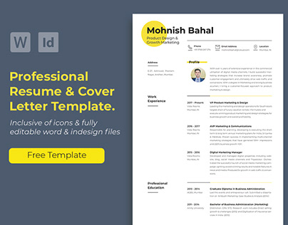 Resume & Cover Letter (Free Template).