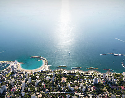 Masterplan of the central embankment of Sochi