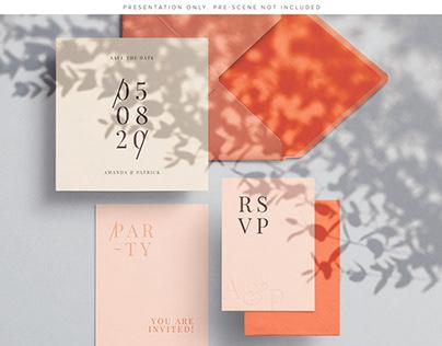 Cards & Envelopes Mockups Scene