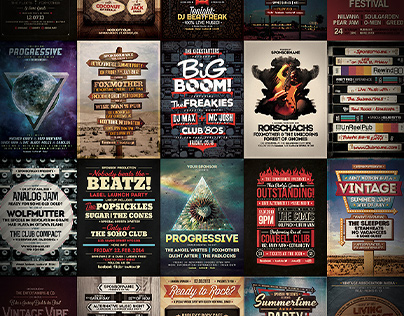 Flyer & Poster Collection - From 2012 to 2015