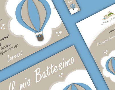Graphic Kit for a Baby Boy's Baptism (2D & 3D)