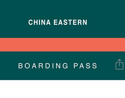 China Eastern - Boarding Pass