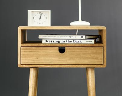 Oak Bedside / Nightstand Table