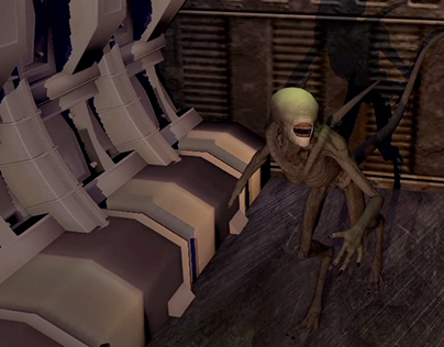 """THE CORRIDOR""_ Corridor alien scene _ Audio Foley Show"