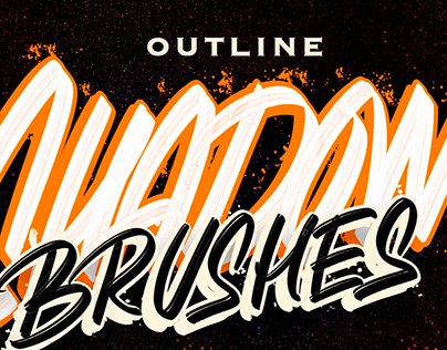 Outline Shadow Lettering BrushesBy:Loysa