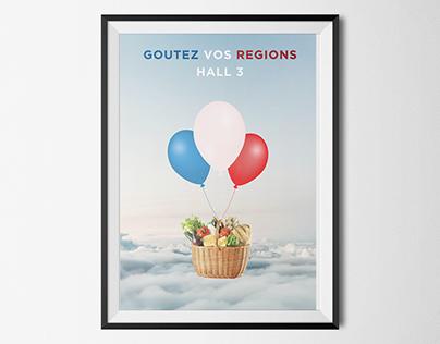 GOUTEZ VOS REGIONS poster