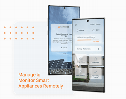 Manage & Monitor Smart Appliances Remotely | UI/UX