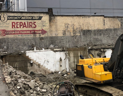 Vintage Commercial Mural Discovered in Vancouver