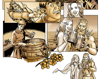 Comics for the beer's adverise