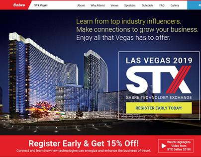 STX Vegas Website Redesign