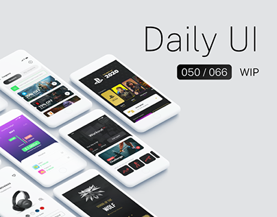 Daily UI Challenges - 050/066 | WIP