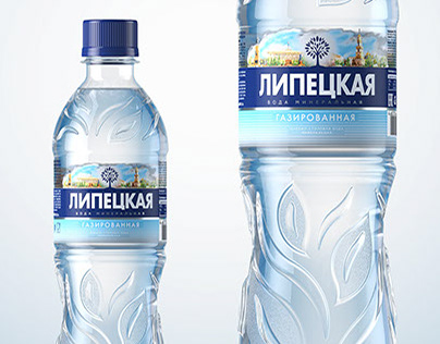 Mineral water product shot in 3d. Made for STUDIOIN
