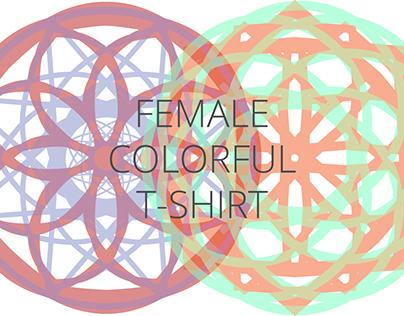 Female Colored Art T-shirt