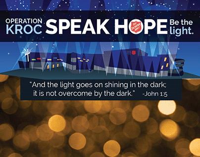 Operation Kroc: Speak Hope, Be the Light.