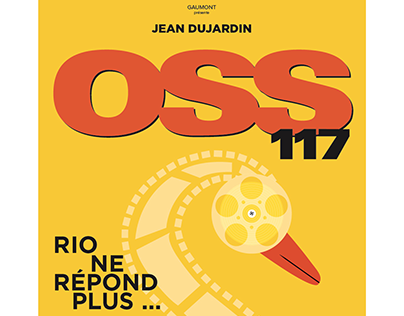 OSS 117 movie poster, inspired from Olly Moss