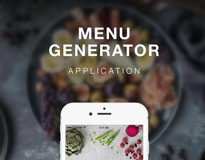 Menu Generator Application