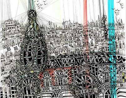 Saint-Petersburg. Architectural sketches