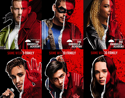 The Umbrella Academy in the style of The Boys
