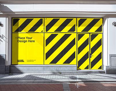 City Retail Shop Facade Mockup