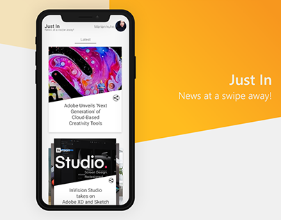 Just In: News App Concept