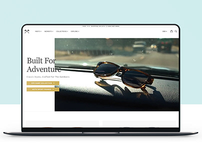 Design development for Internet glasses store
