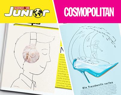Artworks for Cosmopolitan and Science & Vie Junior