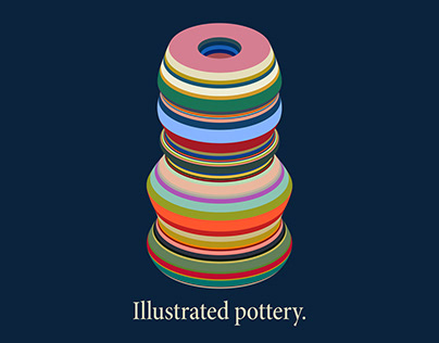 Illustrated pottery.