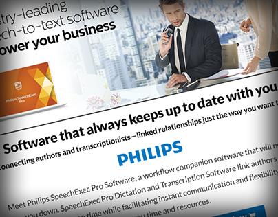 Philips SpeechExec Pro Landing Page