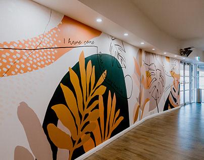 'Flourish' Cafe Mural