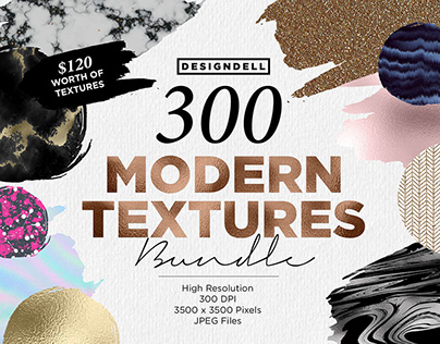 300 Modern Textures Collection By:Design Dell