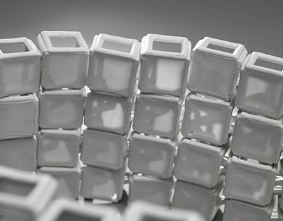 Transparency Mobile porcelain sclupture Blanc de Chine